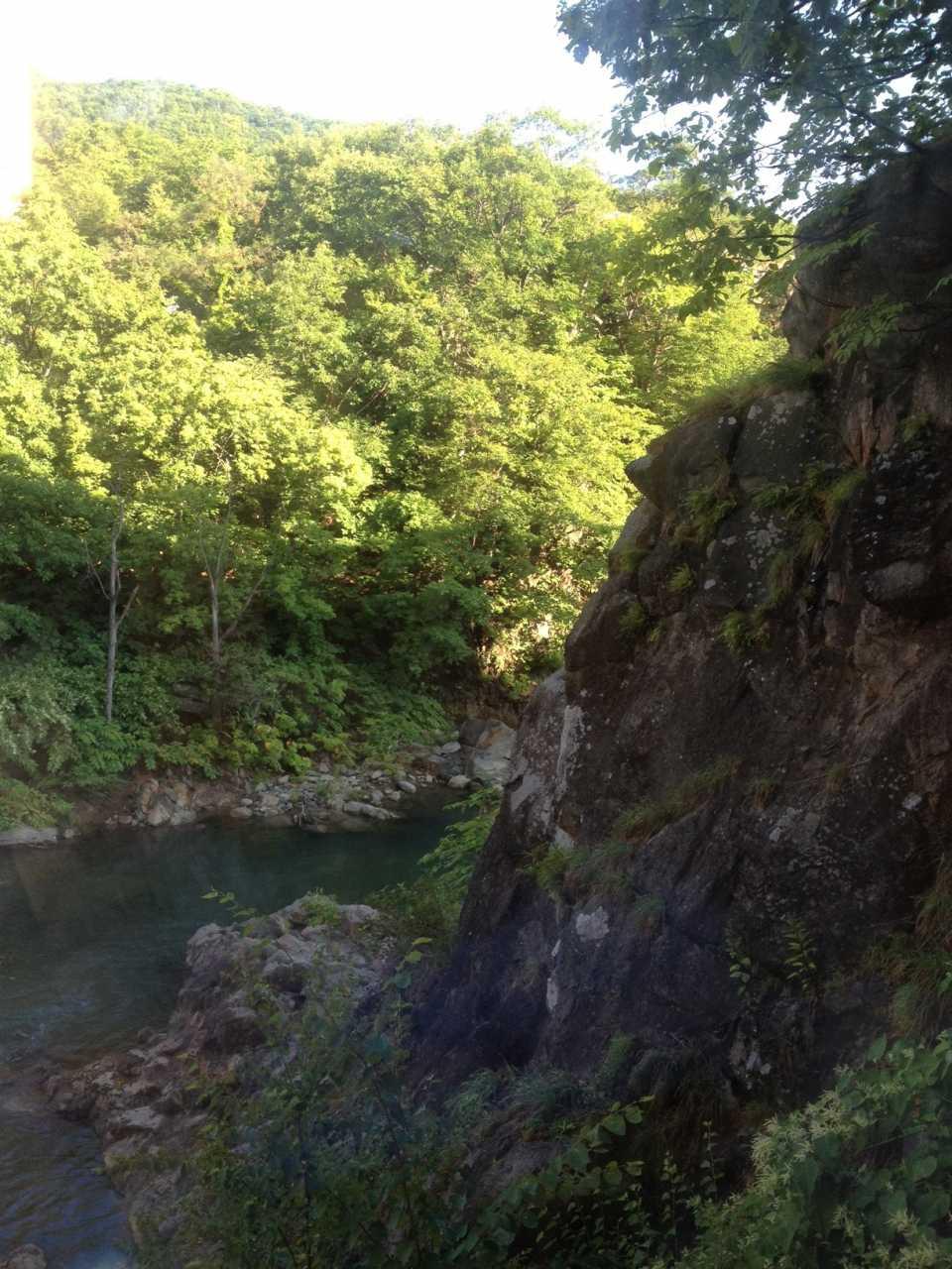 ▲ 定山渓の谷間が綺麗でした。