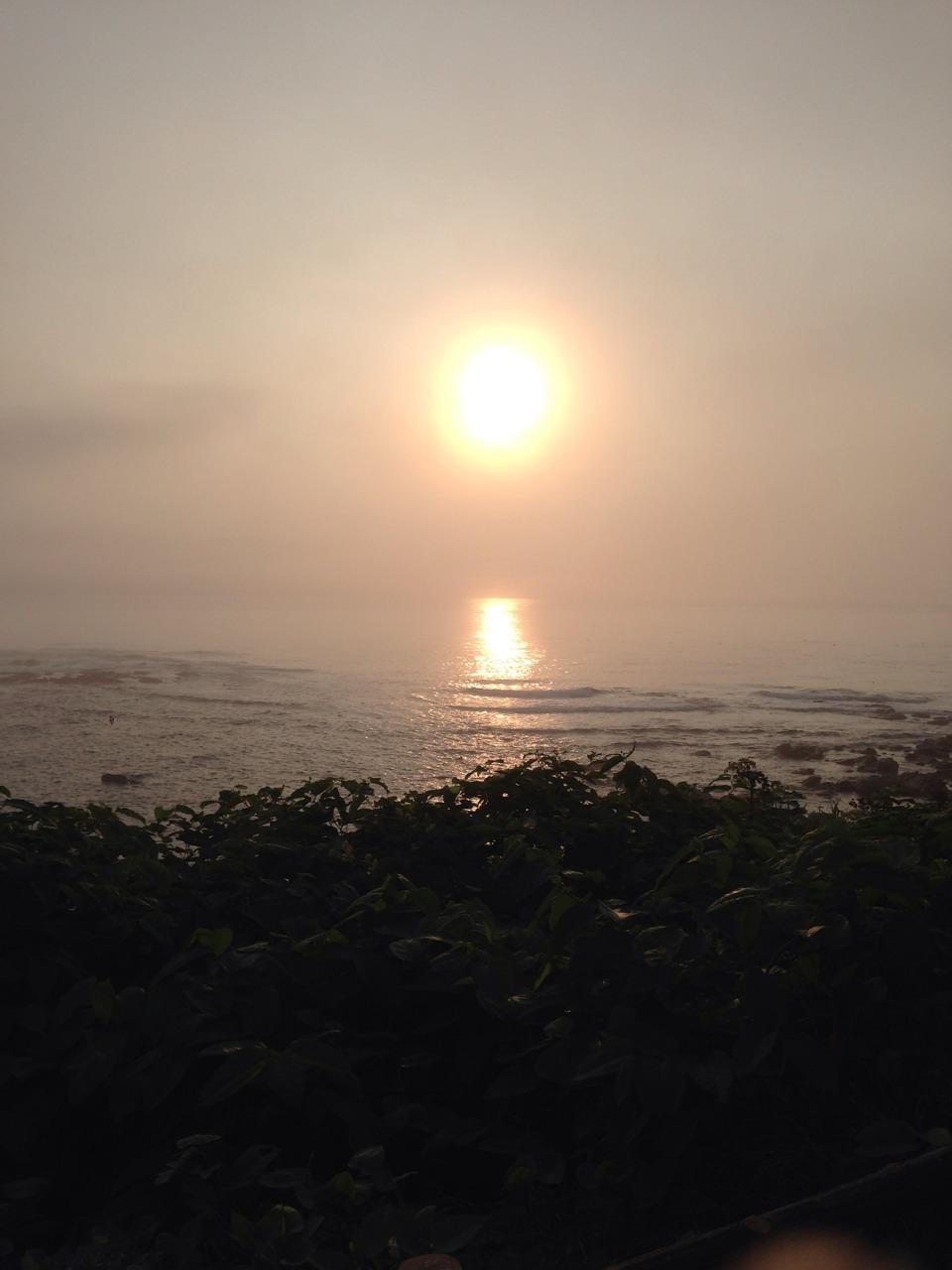 ▲ まさしく!日の出岬からの日の出