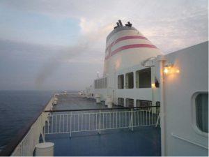 ▲ 新日本海フェリー船上