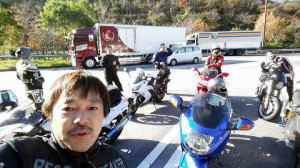 帰りの横須賀PAで。